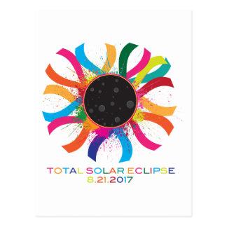 2017 Total Solar Eclipse Corona Text Color Postcard