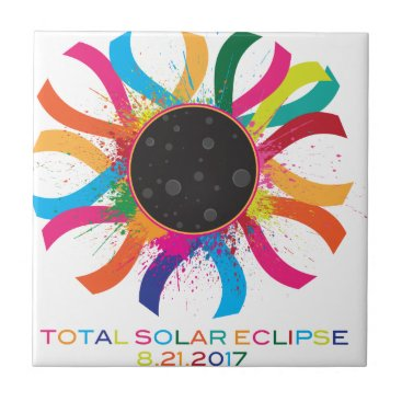 2017 Total Solar Eclipse Corona Text Color Tile