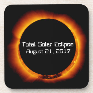 2017 Total Solar Eclipse Drink Coaster