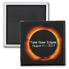 2017 Total Solar Eclipse Magnet at Zazzle