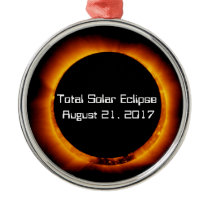 2017 Total Solar Eclipse Metal Ornament