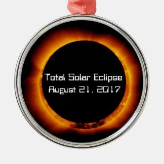 2017 Total Solar Eclipse Metal Ornament