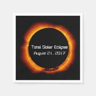 2017 Total Solar Eclipse Napkin at Zazzle