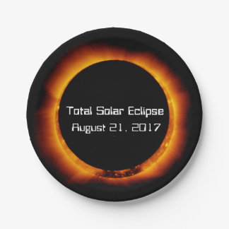 2017 Total Solar Eclipse Paper Plate