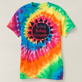 2017 Total Solar Eclipse Spiral Tie Dye Shirt