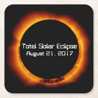 2017 Total Solar Eclipse Square Paper Coaster
