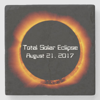 2017 Total Solar Eclipse Stone Coaster