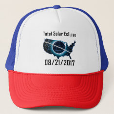 2017 Total Solar Eclipse Trucker Hat at Zazzle
