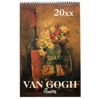 2017 Van Gogh Flowers, Irises, Sunflowers, Poppies Calendar