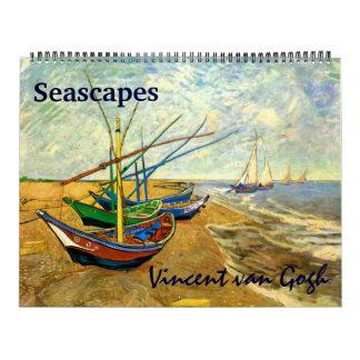 2017 Vincent van Gogh Seascapes Maritime Nautical Calendar