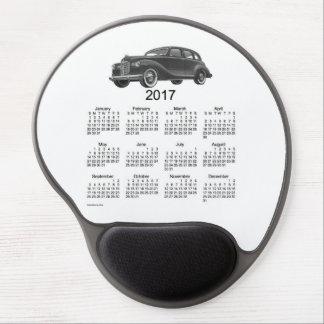 2017 Vintage Automobile Black Calendar by Janz Gel Mouse Pad