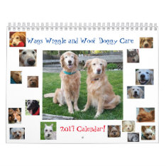 2017 Wags Wiggle & Woof Doggy Care Calendar at Zazzle