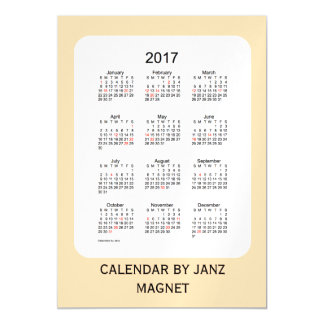 2017 Wheat Calendar by Janz 5x7 Magnet