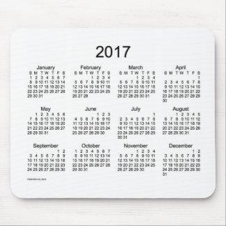 2017 White Calendar by Janz Mouse Pad