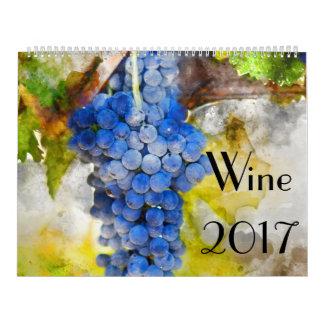 2017 Wine Art Watercolor Calendar