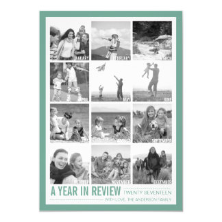 2017 Year in Review 12 Photo Collage Holiday Card