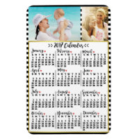 2017 Year Monthly Calendar Stripes | Custom Photos Magnet
