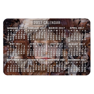 2017 Year Monthly Calendar White | Add Photo Magnet