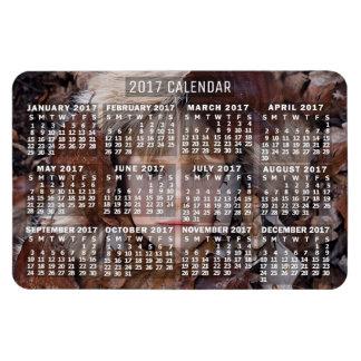 2017 Year Monthly Calendar White   Add Photo Rectangular Photo Magnet