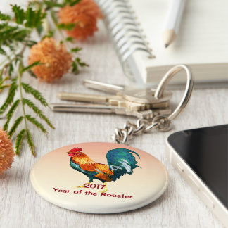 2017 Year of the Rooster Chinese New Year Keychain