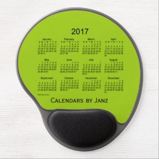 2017 Yellow Green Calendar by Janz Gel Mousepad