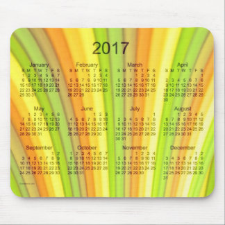 2017 Yellow Rainbow Art Calendar by Janz Mousepad