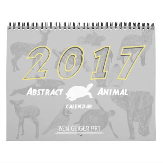 2017 Zazzle Abstract Animal Calendar