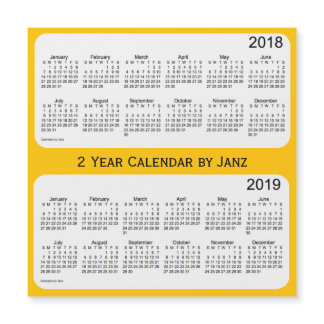2018-2019 Gold 2 Year Calendar by Janz