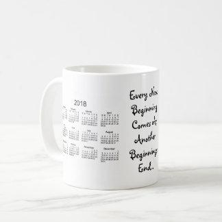 2018-2019 New Beginnings White Calendar by Janz Coffee Mug