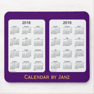 2018-2019 Purple Calendar by Janz Mousepad
