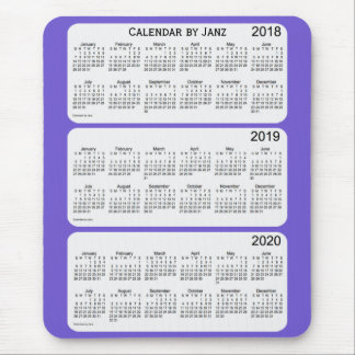 2018-2020 Slate Blue Calendar by Janz Mouse Pad