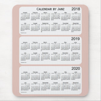 2018-2020 Thistle Calendar by Janz Mouse Pad