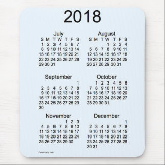 2018 Alive Blue 6 Month Calendar by Janz Mouse Pad