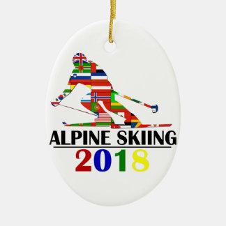 2018 ALPINE SKIING CERAMIC ORNAMENT