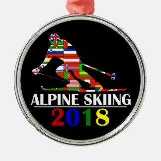 2018 ALPINE SKIING METAL ORNAMENT