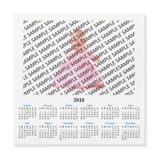 2018 Annual Photo Custom Calendar Magnet Card