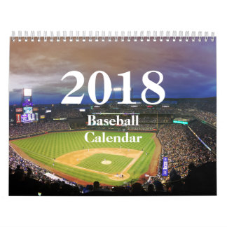 2018 Baseball Calendar-HAMbyWhiteGlove Calendar
