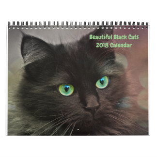 2018 Beautiful Black Cats 12-month Wall Calendar
