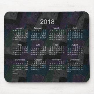 2018 Black Patchwork Calendar by Janz Mouse Pad