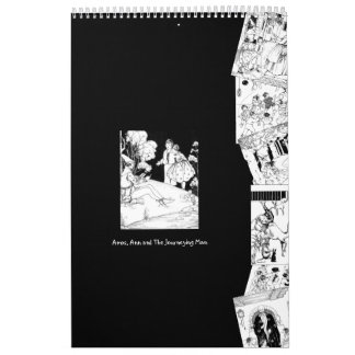 2018 Black White Typography House Rhymes Vintage Calendar