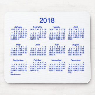 2018 Blue and White Calendar by Janz Mouse Pad