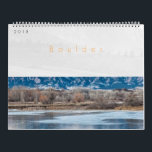 "2018 Boulder Colorado Calendar<br><div class=""desc"">The Boulder calendar showcases a collection of images taken in the parks and open space surrounding the beautiful city of Boulder. Nestled at the base of the Rocky Mountains in Colorado,  the scenery ranges from high mesas to the ever present iconic Flatirons.</div>"