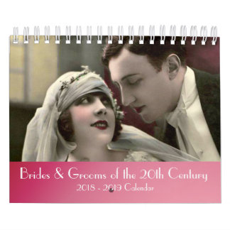 2018 Brides and Grooms of the 20th Century Calendar