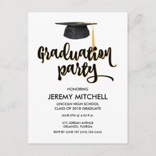 Graduation invitation postcards zazzle 2018 budget graduation party postcard invitations filmwisefo