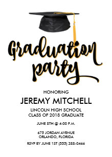graduation invitation postcards zazzle