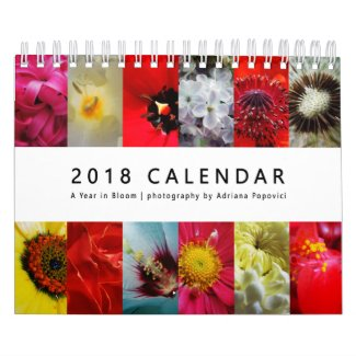 2018 Calendar: A Year in Bloom Calendar