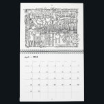 "2018 CALENDAR Coloring Scriptures<br><div class=""desc"">Twelve unique hand-drawn scriptures for you to enjoy coloring and remembering precious scripture.  Take your time with each one as you transform black and white verses into vibrant color.  And at the same time discover a fun way to memorize important verses from the Holy Bible.</div>"