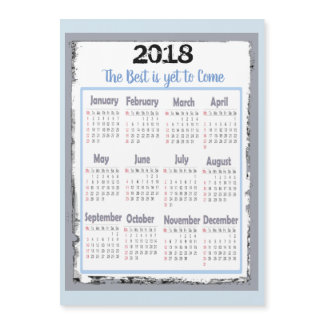 2018 Calendar Magnetic Card for your Refrigerator