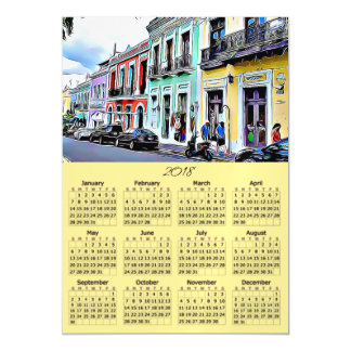 2018 Calendar Magnetic Puerto Rico Card