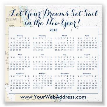 Professional Business 2018 Calendar Nautical Sailing Quote Promotional Photo Print
